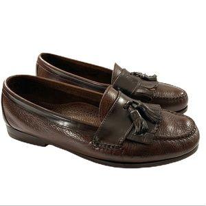 Cole Haan Leather Dress Loafers Tassels Fringe